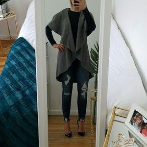 Jackets & Blazers - Gray Cape Vest
